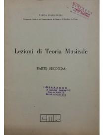 POLTRONIERI LEZIONI DI TEORIA MUSICALE PARTE SECONDA