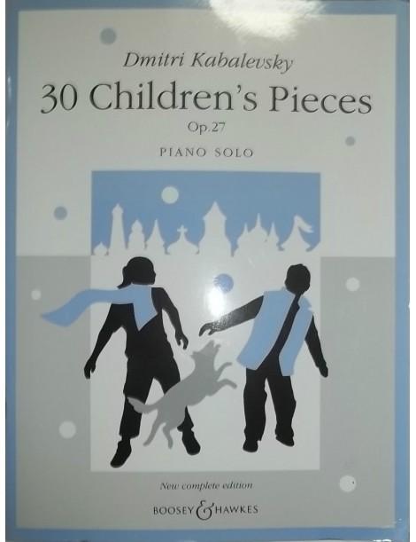KABALEVSKY 30 PEZZI PER FANCIULLI OP 27 PER PIANOFORTE