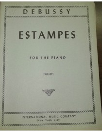 DEBUSSY ESTAMPES PER PIANOFORTE