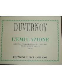 DUVERNOY L'EMULAZIONE 20 PICCOLI PEZZI PER PIANOFORTE 4 MANI