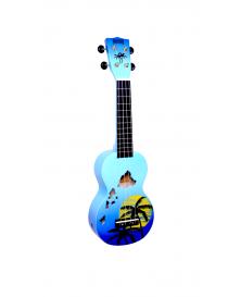 UKULELE SOPRANO MAHALO HAWAII BLUE