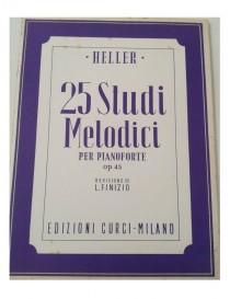 HELLER 25 STUDI MELODICI PER PIANOFORTE OP 45