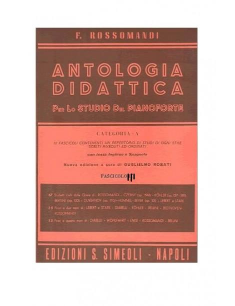 ROSSOMANDI ANTOLOGIA DIDATTICA  CAT A FASCICOLO 3°