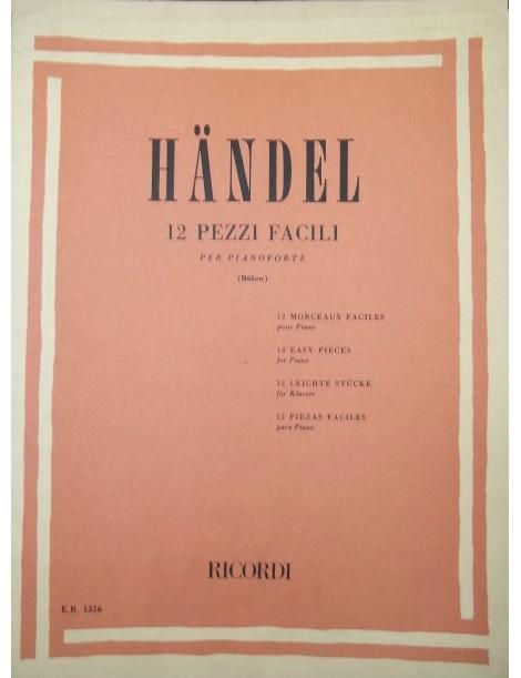 HANDEL 12 PEZZI FACILI PER PIANOFORTE