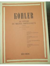 KOHLER 16 STUDI DI MEDIA DIFFICOLTA' OP 224