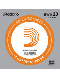 D'Addario BW023 Bronze Wound Singles Corda Singola Acustica