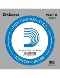 D'Addario PL014 Plain Steel Singles Corda Singola Elettrica