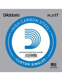 D'Addario PL011 Plain Steel Singles Corda Singola Elettrica