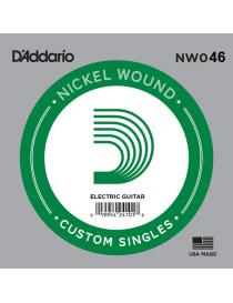 D'Addario NW046 XL Nickel Wound Singles Corda Elettrica