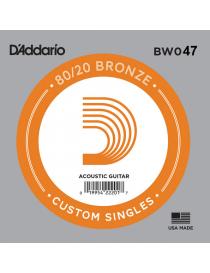 D'Addario BW039 Bronze Wound Singles Corda Singola Acustica