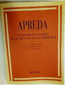 APREDA FONDAMENTI TEORICI DELL'ARTE MUSICALE MODERNA